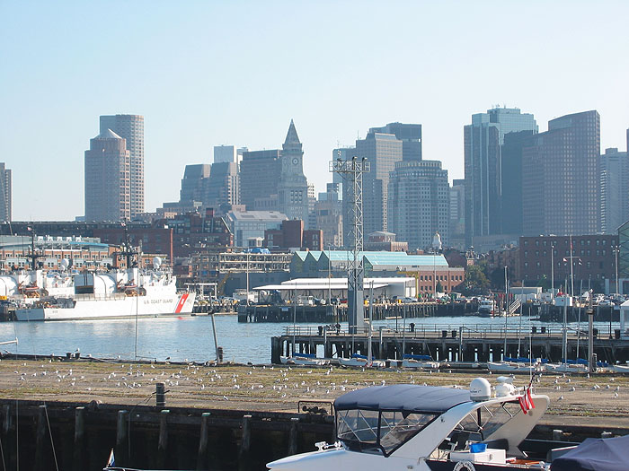 Boston Waterfront Harbor from Navy Yard